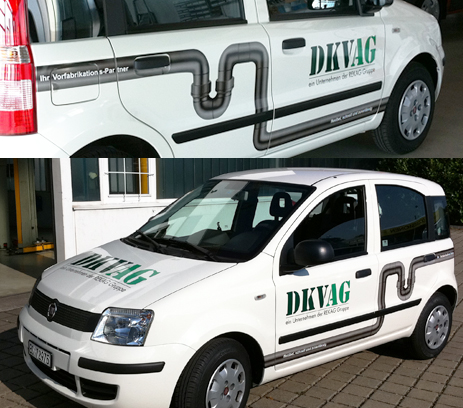 Arbeiten Corporate Design DKV Auto